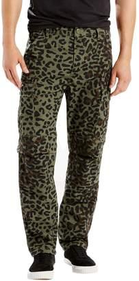 Levi's Men's Skate Buell Burnt Olive Print Cargo Pants