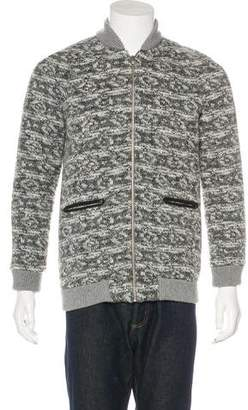 Thakoon Wool-Blend Leather-Trimmed Jacket