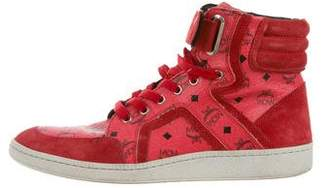 MCM Visetos High-Top Sneakers