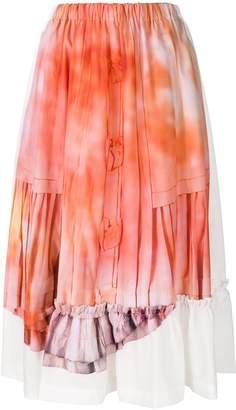 Comme des Garcons tie dye midi skirt