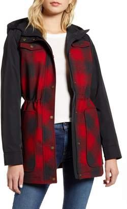 Pendleton Hayden Water Repellent Hooded Flannel Jacket