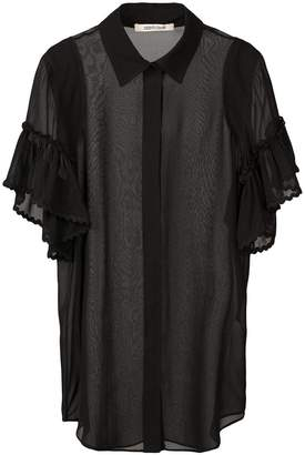 Roberto Cavalli sheer silk shirt