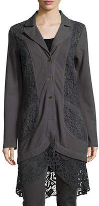XCVI Paisley Crochet-Detailed Jacket