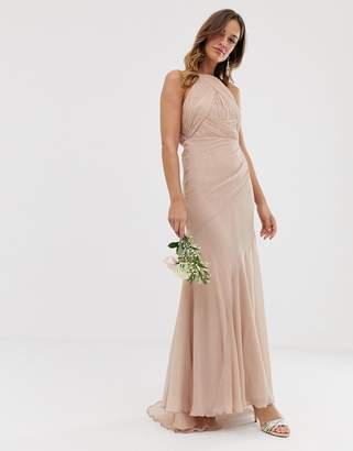 Asos Design DESIGN Bridesmaid pinny bodice maxi dress with fishtail skirt