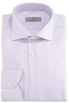 Canali Dobby-Dot Dress Shirt, Pink
