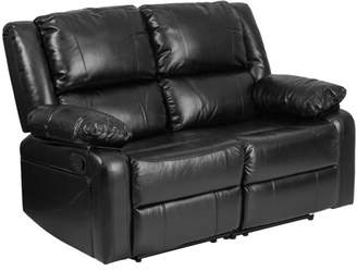 Generic Flash Furniture Harmony Series Black Leather Loveseat with Two Built-In Recliners