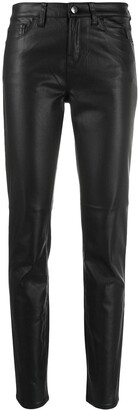 Emporio Armani faux-leather skinny trousers