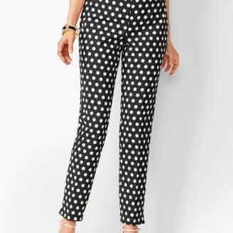 Talbots Dot Jacquard Chatham Ankle Pants