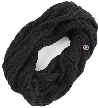 Women's Canada Goose Chunky Cable Wool Snood $125 thestylecure.com