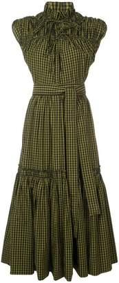 Proenza Schouler Gingham Tiered Dress