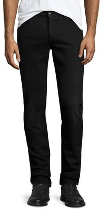 Rag & Bone Fit 2 Slim-Leg Denim Jeans, Worn Black $230 thestylecure.com