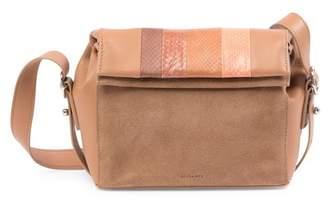 AllSaints Casey Genuine Snakeskin & Leather Crossbody Bag