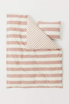 H&M Striped duvet cover set