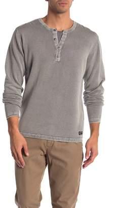 ProjekRaw Projek Raw Henley Acid Wash Long Sleeve Shirt