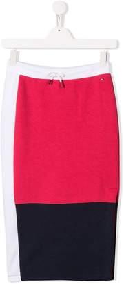 Tommy Hilfiger Junior colour block skirt