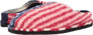 Haflinger Women's Ar George Red White Slip on Slipper Blue