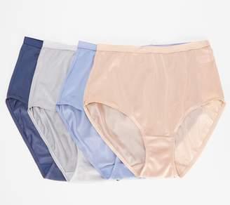87af12d98dec Breezies Set of 4 100% Nylon Full-Brief Panties