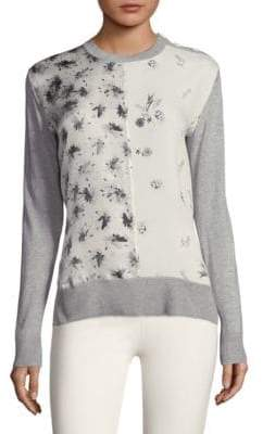 Derek Lam Mixed Media Crewneck Sweater