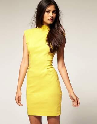 Asos Design Bodycon Dress With Open Back