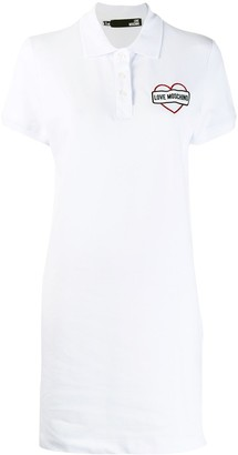 Love Moschino logo print polo dress