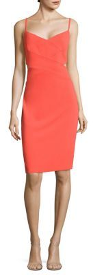 Laundry by Shelli Segal Cutout Crepe Sheath Dress $195 thestylecure.com