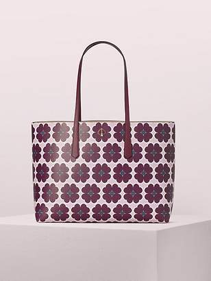 Kate Spade Molly Graphic Clover Large Tote, Orchid