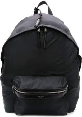 Saint Laurent double top zip backpack