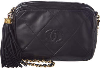 Chanel Black Quilted Lambskin Leather Mini Camera Bag