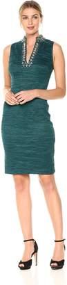 Eliza J Women's Split Neck Sheath Dress