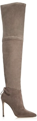 Pour La Victoire Caterina Over the Knee High Heel Boots $595 thestylecure.com