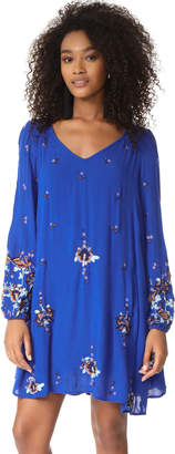 Free People Oxford Embroidered Mini Dress $128 thestylecure.com