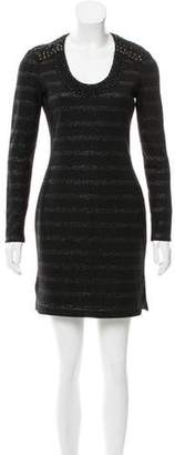 Yigal Azrouel Embellished Wool Dress