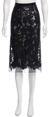 Tome Metallic Lace Skirt