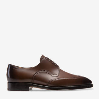 Bally Scanlan Brown, Men's leather Derby lace-up shoe in mid brown