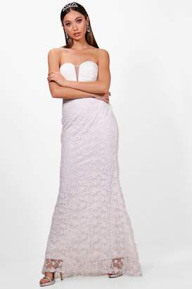 boohoo Boutique Embroidered Maxi Dress