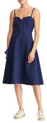 Polo Ralph Lauren Linen Lace-Up Dress