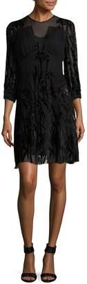 Anna Sui Women's Velvet Shift Dress
