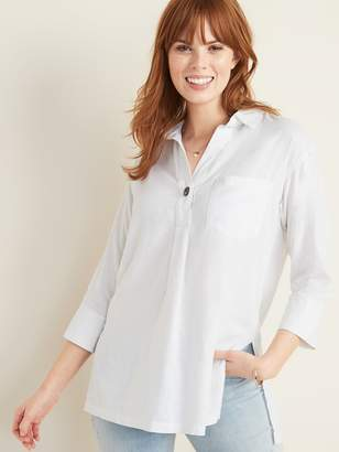 Old Navy Linen-Blend Popover Resort Tunic for Women