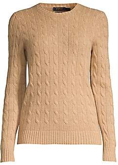Polo Ralph Lauren Women's Julianna Slim-Fit Cashmere & Wool Cable Knit Sweater