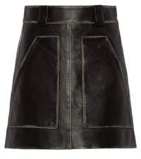 Prada Leather Miniskirt