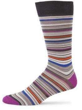 Saks Fifth Avenue COLLECTION Mercerized Multi Stripe Socks