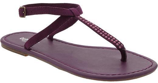 Old Navy Women's Embellished T-Strap Sandals