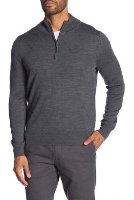 Brooks Brothers Merino Wool Blend Zip Pullover