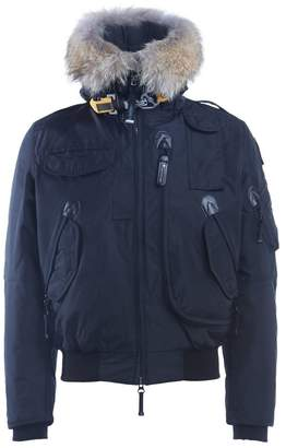 Parajumpers Down-filled Nylon Gobi Black Bomber With Trimmed Fur Hood