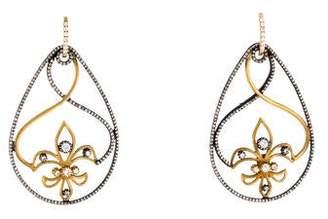 Sara Weinstock Diamond Fleur-de-Lis Drop Earrings