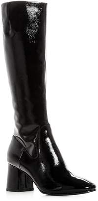 Ash Women's Hashley Patent Leather Block Heel Tall Boots