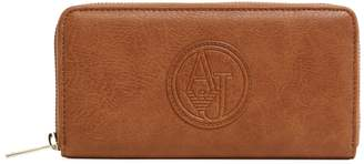 Armani Jeans Women's Faux Leather Logo Zip Around Wallet