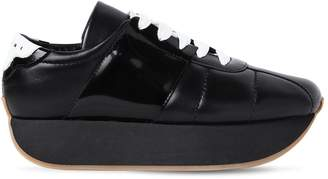 Marni 40mm Leather Platform Sneakers