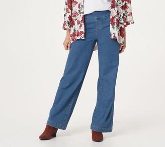 Denim & Co. Lightweight Wide-Leg Denim Pants