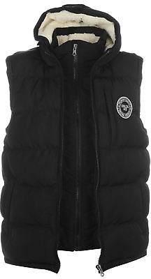 Soul Cal SoulCal Mens 2 Zip Gilet Sleeveless Jacket Lightweight Hooded Insulated Winter